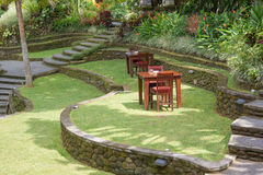Terrasses Bali de jardin Photo stock