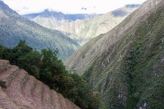 Terrasses d'agriculture près de Machu Picchu peru beau chiffre dimensionnel illustration trois du sud de 3d Amérique très Aucune  Photo stock