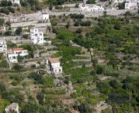 Terrasses de côte d'Amalfi image stock