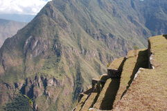 Terrasses de machu-picchu Photo libre de droits