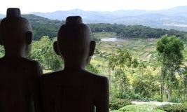 Terrasses de riz de Batutumonga Tana Toraja Photographie stock