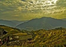 Terrasses de riz de Guilin Images libres de droits