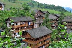 Terrasses de riz de Longsheng, Guilin Photographie stock libre de droits