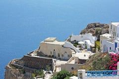Terrasses de Santorini 2 Photographie stock