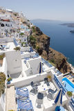Terrasses de Santorini Photo stock