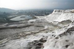 Terrasses de sel de Pamukkale Photos stock