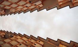 terrasses et le toit sous forme de dent de scie Photos libres de droits