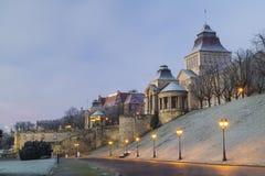 Terrasses Haken ('de WaÅ y Hrobrego) Szczecin, Pologne Image libre de droits