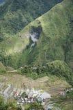 Terrasses luzon Philippines de riz de Batad photographie stock libre de droits