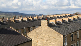 Terrasvormige Huisvesting, Lancashire. royalty-vrije stock fotografie