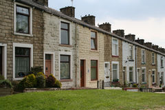Terrasvormige Huisvesting, Lancashire. stock afbeelding