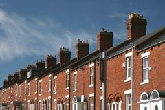 Terrasvormige huizen Royalty-vrije Stock Afbeeldingen