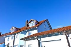 Terrasvormige huizen in suburbia Stock Fotografie