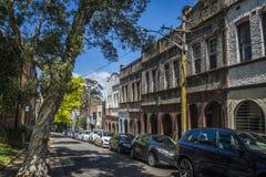 Terrasvormige huizen, Surry-Heuvels, Sydney, Australië royalty-vrije stock afbeeldingen