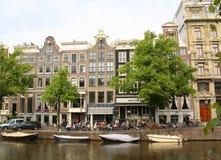 Terraza al aire libre Amsterdam imágenes de archivo libres de regalías