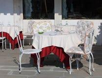 Terraza blanca Fotografía de archivo libre de regalías