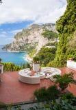 Terraza de Capri Fotos de archivo