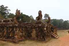 Terraza de elefantes, Angkor Thom Fotos de archivo libres de regalías