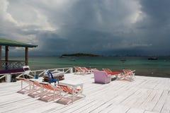 Terraza de la playa Fotos de archivo