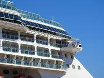 Terraza de las cabinas de un crucero de lujo imagen de archivo libre de regalías