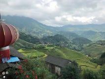 Terraza de Longji en Guilin, China imagen de archivo