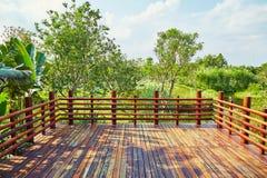 Terraza de madera foto de archivo libre de regalías