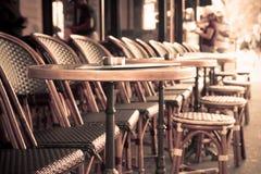 Terraza del café Imágenes de archivo libres de regalías