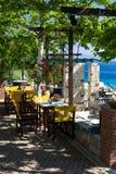 Terraza del café Imagen de archivo