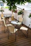 Terraza del café del verano Imagenes de archivo