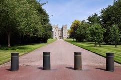 Terraza del este del castillo de Windsor en Inglaterra Foto de archivo