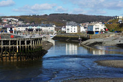 Terraza del infante de marina de Aberystwyth Imagen de archivo libre de regalías