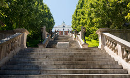 Terraza del monumento en Lynchburg Virginia Imagenes de archivo