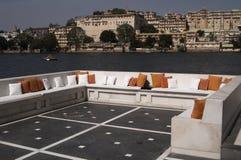 Terraza del palacio del lago Fotografía de archivo