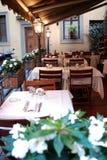 Terraza del restaurante Foto de archivo libre de regalías