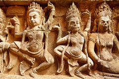 Terraza del rey del leproso, Angkor Wat, Camboya Foto de archivo libre de regalías