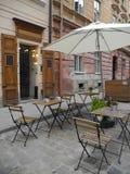 Terraza del verano en la calle Imagen de archivo libre de regalías