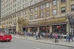 Terraza en la calle de la universidad de McGill Fotografía de archivo