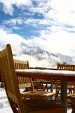 Terraza en la nieve Imagen de archivo libre de regalías