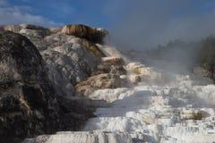Terraza gigantesca de las aguas termales Fotos de archivo