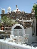 Terraza griega imagen de archivo