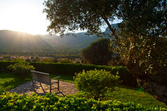 Terraza hermosa de la casa Fotos de archivo libres de regalías