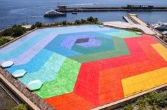 Terraza Hexa del tejado de la tolerancia del auditorio Rainier III, Grimaldi Foto de archivo