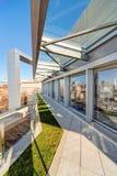 Terraza moderna del edificio Foto de archivo libre de regalías