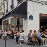 Terraza parisiense Imagen de archivo libre de regalías