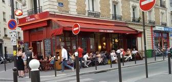 Terraza parisiense Imágenes de archivo libres de regalías