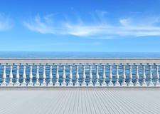 Terraza que pasa por alto el mar Foto de archivo libre de regalías