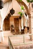 Terraza rústica árabe Imágenes de archivo libres de regalías