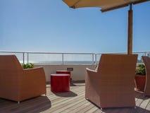 Terraza relajante del hotel en Tenerife Imágenes de archivo libres de regalías
