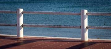 Terraza sobre la playa Fotografía de archivo