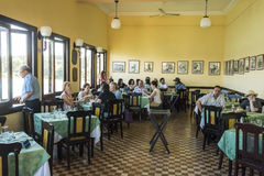Terrazarestaurant Cuba van eetkamerla Stock Foto